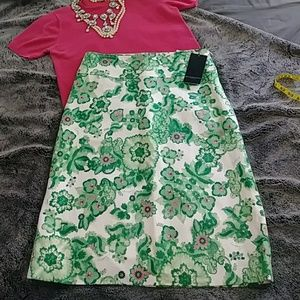 BURBERRY floral print skirt